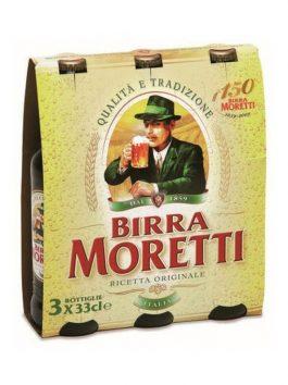 Bere Moretti pachet 33cl x3