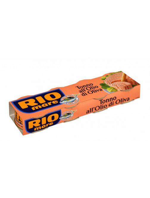 Ton în ulei de măsline Rio Mare pachet 80g x4-0