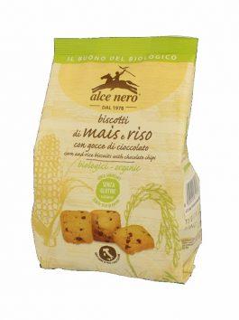 Biscuiți din porumb și orez bio fără gluten Alce Nero 200g