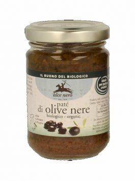 Pate de măsline negre bio Alce Nero 130g