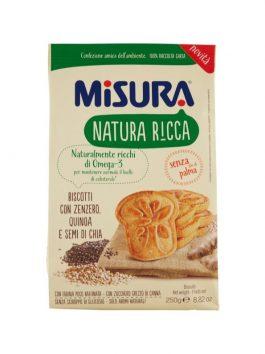 Biscuiți cu ghimbir, quinoa și semințe de chia Misura 250g