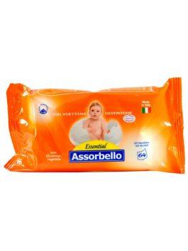 Șervețele umede pentru copii Assorbello Essential 64buc