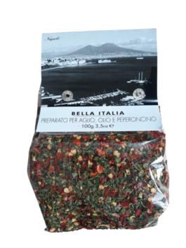 Condimente usturoi și ardei iute Bella Italia 100g