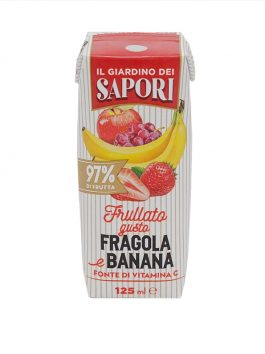 Suc de căpșuni și banane 97% fruct Giardino dei Sapori 125ml