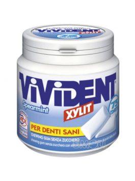 Gumă de mestecat Vivident xylit spearmint fără zahăr 75 pastile