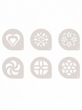 Set 6 discuri decorative pentru cappucino