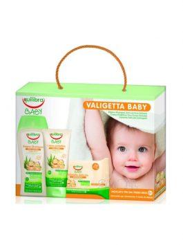 Set Equilibra Valigetta Baby primii pași – șampon 250ml + 20 șervețele + cremă de ten