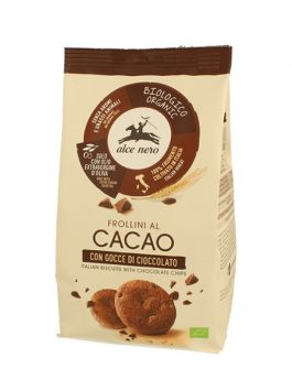 Biscuiți bio cu cacao cu bucăți de ciocolată Alce Nero 300g