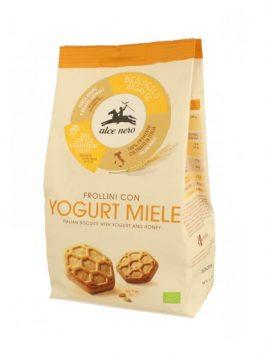 Biscuiți bio cu iaurt și miere Alce Nero 350g
