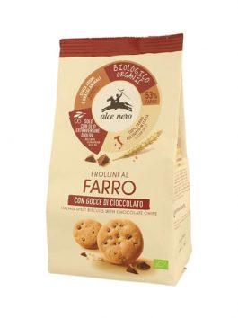 Biscuiți bio din alac cu bucăți de ciocolată Alce Nero 300g
