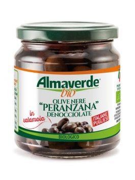 Măsline negre Peranzana fără sâmburi Almaverde Bio 290g