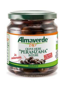 Măsline negre Peranzana întregi Almaverde Bio 290g
