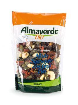 Mixt de stafide, semințe de dovleac, migdale, caju, goji Almaverde Bio 150g