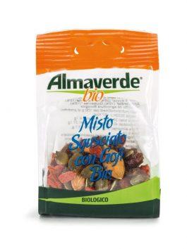 Mixt de stafide, semințe de dovleac, migdale, caju, goji Almaverde Bio 40g
