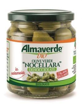 Măsline verzi Bella di Cerignola fără sâmburi Almaverde Bio 290g