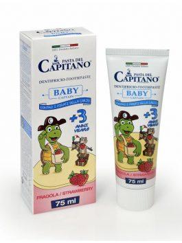 Pastă de dinți Baby 3+ căpșuni Pasta del Capitano 75ml