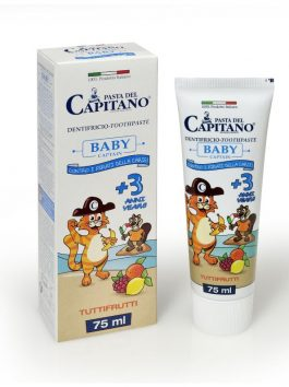 Pastă de dinți Baby 3+ tuttifrutti Pasta del Capitano 75ml