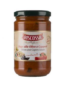 Pesto cu măsline și capere Riscossa 300g