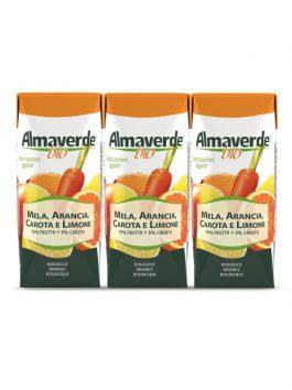Suc Ace mere, portocale, morcovi și lămâie Almaverde Bio 3 x 200ml