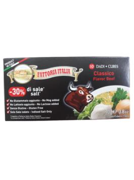 Cubulețe pentru supă de vită Top Quality Fattoria Italia 10x11g
