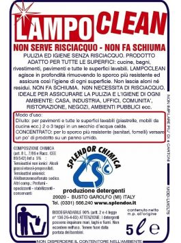 Soluție pentru pardoseli fără spumă LampoClean 5L