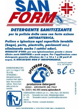 Detergent antibacterian pentru suprafețe San Form 1L