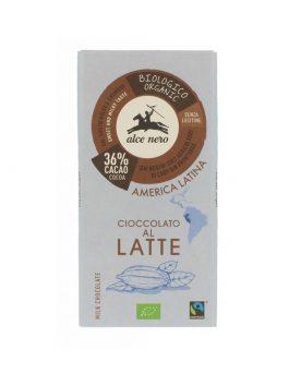 Ciocolată cu lapte bio Alce Nero 100g