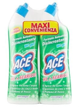Ace WC gel decalficiant fără înălbitor 2 x 700ml