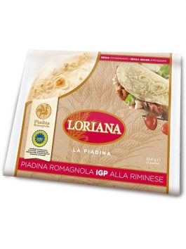 Piadina Romagnola IGP Loriana 350g 3 buc.