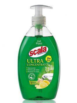 Gel ultraconcentrat pentru  vase lămâie și ghimbir Scala 500ml