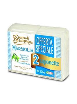 Săpun antibacterian Spuma di Sciampagna marsiglia 125g x 2buc.