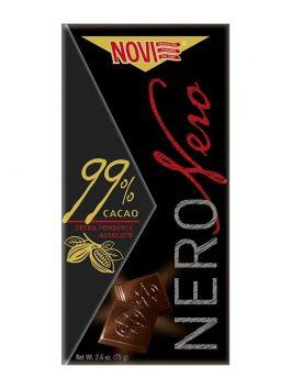 Ciocolată Novi neagră 99% cacao 75g