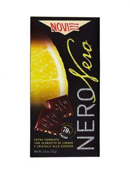 Ciocolată Novi neagră cu lămâie și ghimbir 75g