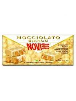 Ciocolată Novi albă cu alune de pădure 130g
