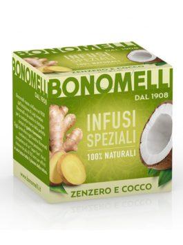 Ceai de ghimbir și nucă de cocos Bonomelli 10x2g