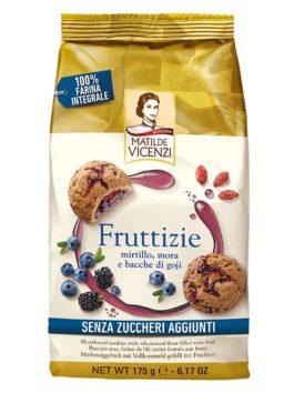 Fursecuri Vicenzi Fruttizie cu afine, mure și goji 175g