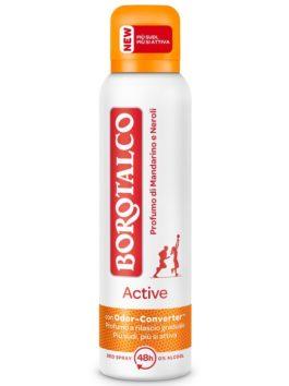 Deo spray Borotalco Activ parfum de mandarine și neroli 150ml