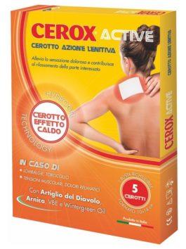 Plasturi pentru calmare dureri de spate și tensiune musculară Cerox Active 10x14cm 5 buc.
