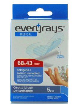 Plasturi pentru arsuri solare cu hidrogel Everyrays 68x43mm 5 buc.
