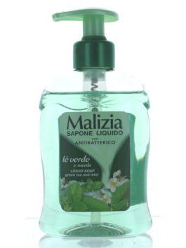 Săpun lichid antibacterian Malizia ceai verde & mentă 300ml