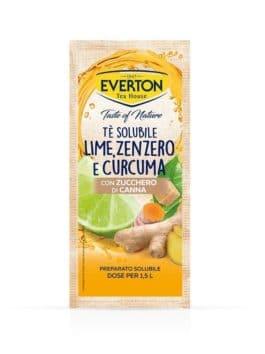 Ceai solubil cu lime, ghimbir, curcuma și zahăr de trestie Everton 125g