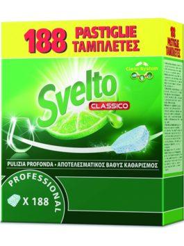 Detergent pentru mașini de spălat vase Svelto Professional 188 capsule