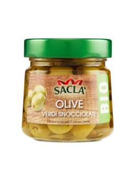Măsline verzi fără sâmburi BIO Sacla 185g