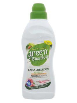 Detergent BIO pentru rufe delicate și lână cu ulei de trandafiri Green Emotion 750ml 16 spălări