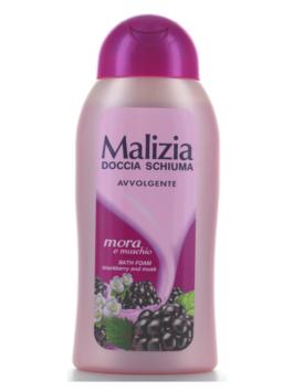 Gel de duș cu parfum de mure și mosc Malizia 300ml
