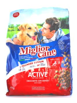 Crochete pentru câini Miglior Cane Active Adult cu vită 4kg