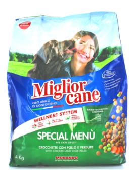 Meniu special pentru câini crochete Miglior Cane Adult cu pui și legume 4kg