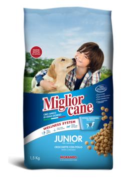Crochete pentru câini Miglior Cane Junior cu pui 1,5kg