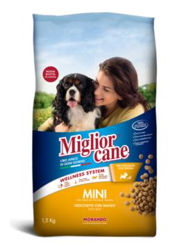 Crochete pentru câini Miglior Cane Mini cu vită 1,5kg