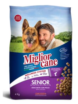 Crochete pentru câini Miglior Cane Senior cu pui 4kg